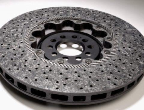 Ceramic brake disc.