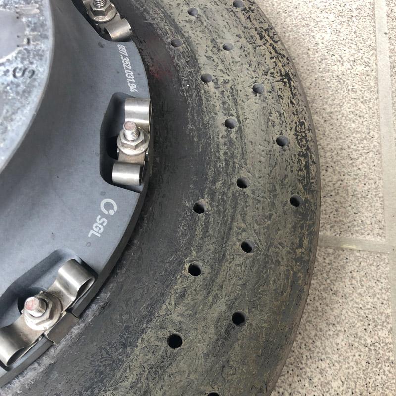 Verschleißbild PCCB Bremsscheibe
